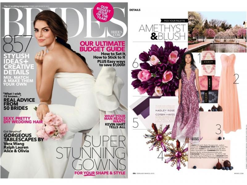 ZADOR at Brides Magazine